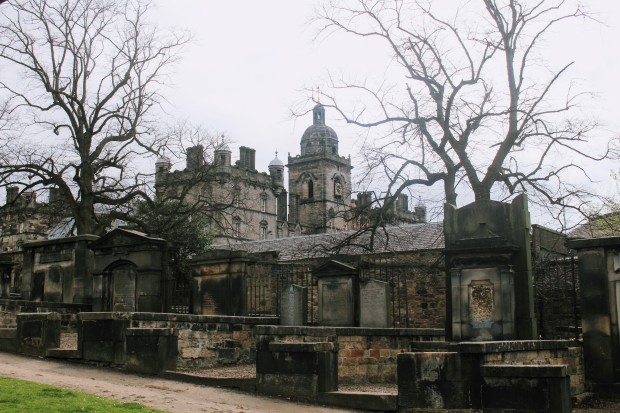 Cemetery in Edinburgh, Scotland